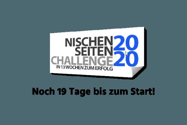 Noch 19 Tage bis zum Start der Nischenseiten Challenge 2020