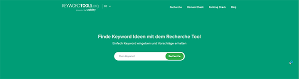 Screenshot von keyword-tools.org