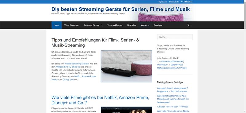 Nischenseiten Challenge 2020: Projekt 1: streaming-geraete.de