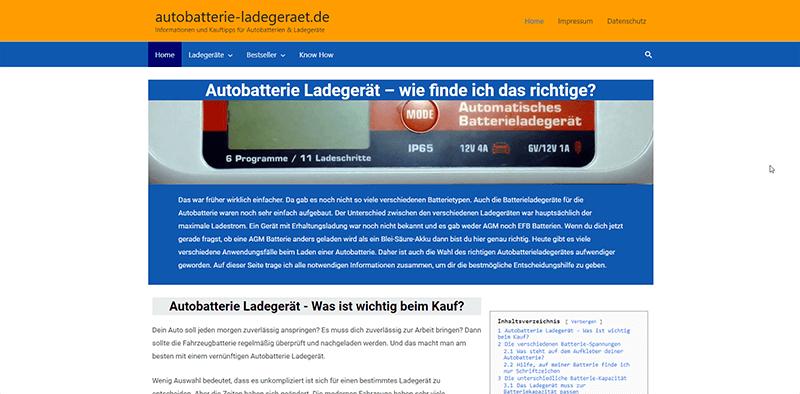 Projekte der Teilnehmer-21-Autobatterie Ladegeraete