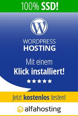 Alfahosting - mein WordPress Webhoster