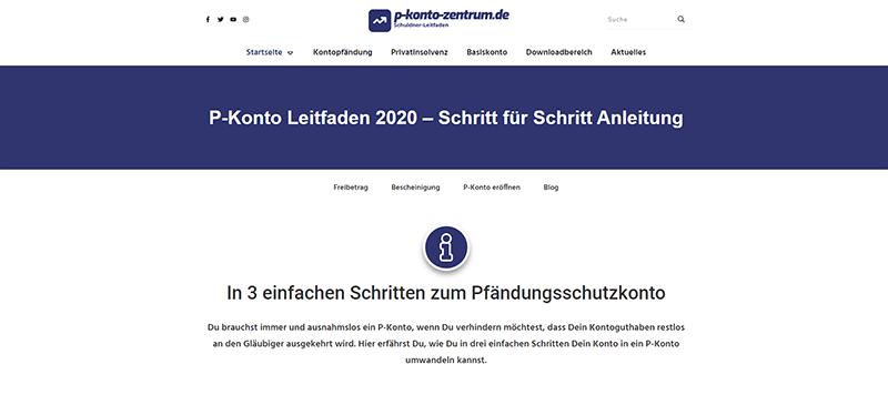 Screenshot P-Konto-Zentrum Mai 2020