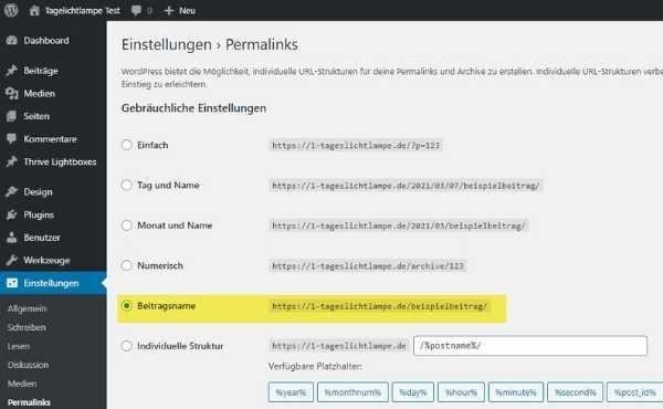 Die Permalink-Struktur bei WordPress